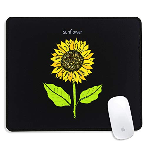 Zanena Custom Square gaming Mouse pad , Beautiful, Stylish Square Mouse pad with Sewn Edges, Suitable for Desk, Work, Home Office Decor, Washable, 9.4inch x 7.8inch. Medium, 4mm Thick (Sunflower)