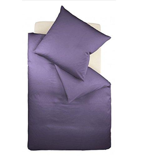 Fleuresse Mako-Satin-Bettwäsche Colours Lavendel 6062 Größe 240 x 220 cm + 2 Kissenbezüge 80 x 80 cm