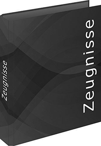 "RNK 46543 - Zeugnisringbuch\""carbon black\"" für DIN A4, 4 Ring-Mechanik, 1 Stück"