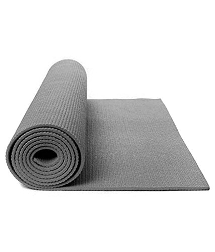 Heirloom Quality Yoga Mat 6mm Thick Grey Eva - Extra Large Anti Skid Yogamat for Gym Workout and Flooring Exercise with Bag Cover