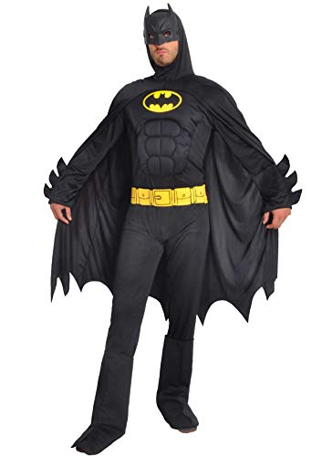 Ciao- Batman Dark Knight Costume Adulto Originale DC Comics (Taglia L) con muscoli pettorali imbottiti Disfraces, Color Negro, 11718