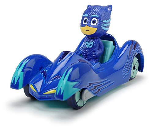 Dickie Toys PJ Masks Single Pack Cat-Car, Catboy Fahrzeug aus Metall, Freilauf, 7 cm, ab 3 Jahren