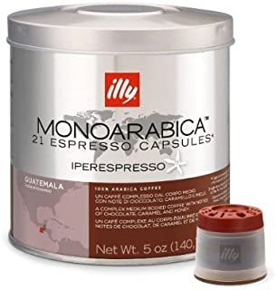 Illy iperespresso Monoarabica Guatemala Cápsulas Medium-Bodied Coffee 21-Count Cápsulas