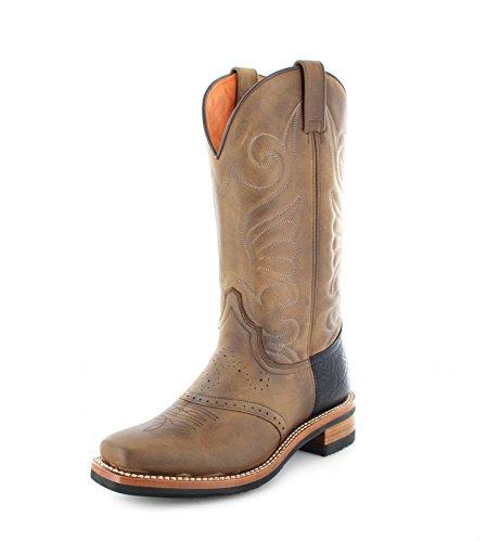 Sendra Boots 11598 Tang lederen laarzen voor dames bruin western rijlaarzen