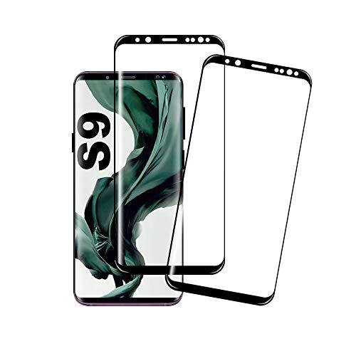 Galaxy S9 Film Protection Ecran Verre Trempé, [2 Pièces] [Ultra Claire] [Dureté 9H] [Anti Rayures] [3D Couverture Complète] Film Protection d'Ecran pour Samsung Galaxy S9