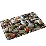 Qinlee Bath Mat - Absorbent Diatomaceous Earth Bath Mat, Deodorant Non Slip Fast Drying for Bathroom Floor in 17' x 24'