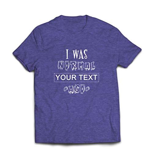 lepni.me Camisetas Hombre Personalizado Era Normal Texto Personalizado Hace un Regalo Personalizado (Medium Brezo Azul Multicolor)