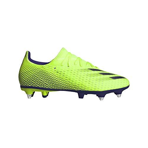 adidas X GHOSTED.3 SG, Zapatillas de fútbol Hombre, Signal Green Energy Ink F17 Signal Green, 39 1/3 EU