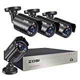 ZOSI 8CH 1080P Security Camera System Outdoor,H.265+ 8-Channel HD-TVI 5MP Lite Video DVR recorder with 4x HD 1920TVL 1080P Weatherproof CCTV Cameras NO Hard Drive ,Motion Alert, Remote Access