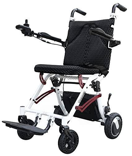JINKEBIN Silla de ruedas eléctrica Venta de silla de ruedas eléctrica de aleación de aluminio para discapacitados (color negro)