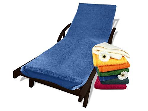 Dyckhoff Schonbezug mit Kapuze für Gartenstuhl oder Gartenliege 270.1158, Gartenliege, blau