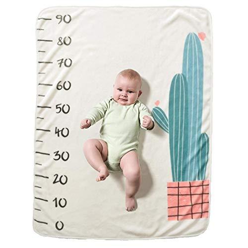 tiowea baby cartoon gedrukt fotografie achtergrond zachte baby mijlpaal deken dekbedden Mittel blauw-wit
