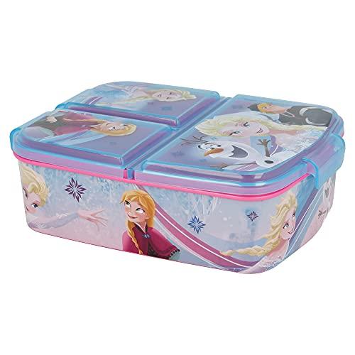Stor Frozen (Disney)   Porta merenda a 3 Scomparti per Bambini - Kids Lunch Box - Porta Pranzo
