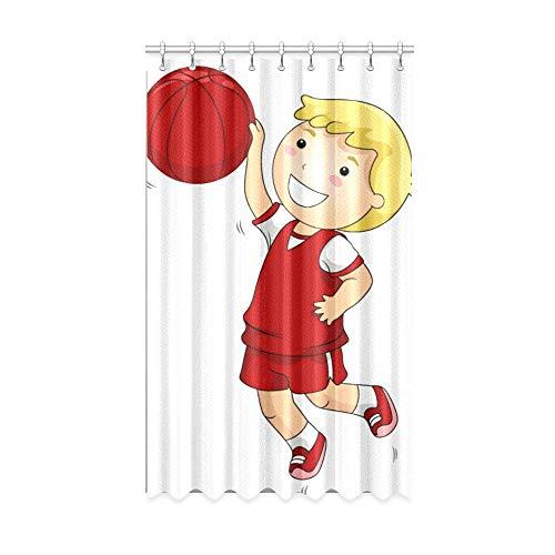 N\A Innenfenster Vorhang Sunny Handsome Basketball Boy Badezimmer Verdunkelungsvorhänge 50 x 84 Zoll EIN Stück für Patio Glasschiebetür/Schlafzimmer