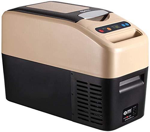 Lxyz - Mini nevera portátil para coche, compresor de 12 V/24 V, nevera y congelador, 520 x 230 x 358 cm, para viajes y acampadas, compacto, Beige520 * 230 * 358, Beige520 * 230 * 358