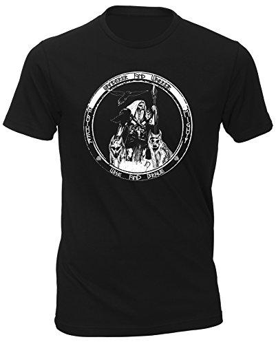 T-Shirt Odin- Wanderer. - Noir - Medium