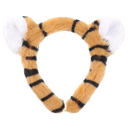 Luxshiny 1Pc Tigre Bandeau En Peluche Oreille Hoop Trois Dimentional Tigre Oreille Bandeau Animal de Bande Dessinée Hoop Hoop Accessoire