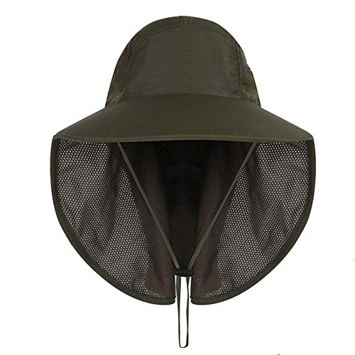 Gisdanchz Sun Protection Wide Brim Hat with Neck Cover for Hiking Fishing Camping Etc
