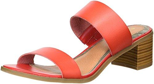 Rampage Women's Ram-Hatty Heeled Sandal, Red Burnished, 8 M US