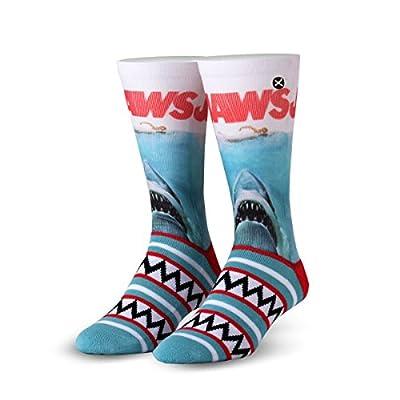 ODD SOX Jaws Movie Shark Teeth Crazy Novelty Crew Socks