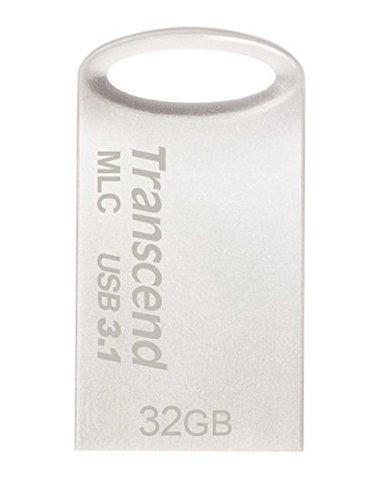 Transcend USBメモリ MLC採用 32GB USB3.1 & USB 3.0 キャップレス シルバー 耐衝撃 防滴 防塵 2年保証 TS3...