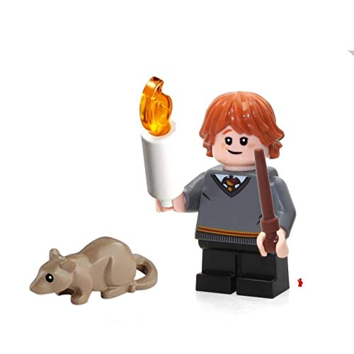 LEGO 2018 Harry Potter Minifigure - Ron Weasley (Wand, Candle and Scabbers The Rat ) 75954