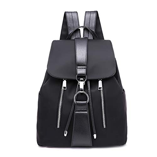 Korean Style Women Backpack Bucket Bag Drawstring Fashion Hook Fashion Backpack School Shoulder Bag mochilas Mujer 2019,Black