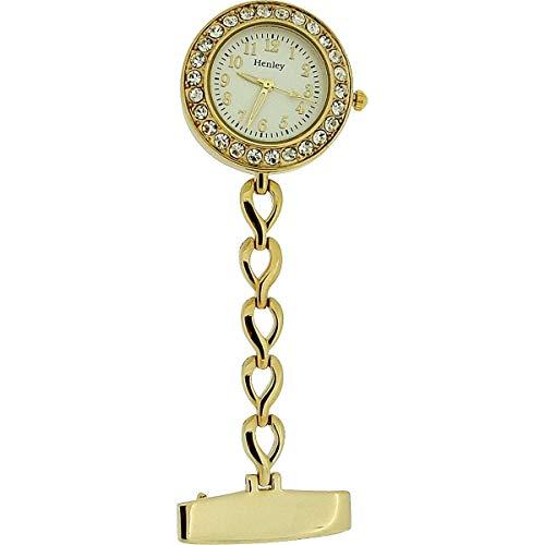 Henley HF08.2–Taschenuhr, Armband aus Edelstahl Farbe Gold