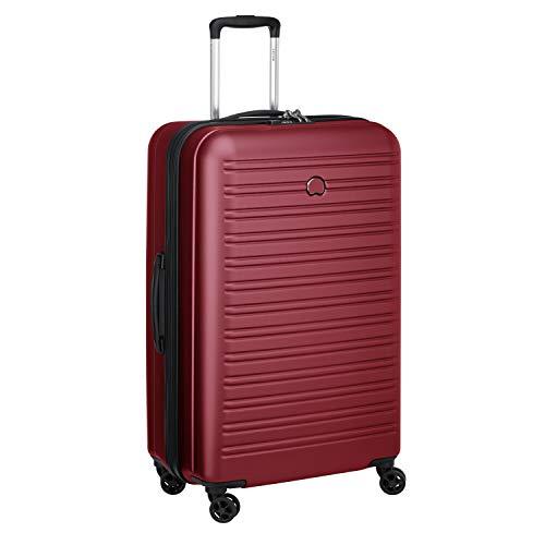 DELSEY PARIS - SEGUR 2.0 - Valise rigide à double roues et serrure TSA intégrée - 78cm, 105L, Rouge