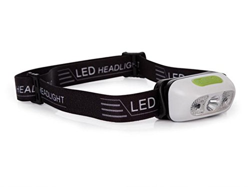 Perel EHL21 Linterna Frontal LED Recargable con Sensor de Encendido/Apagado