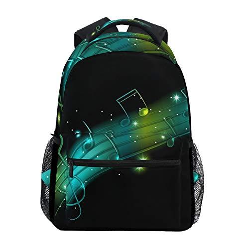Jeansame Rucksack Schultasche Laptop Reisetasche für Kinder Jungen Mädchen Frauen Männer Sterne Musik Score