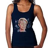 VINTRO David Bowie Live - Chaleco para mujer, diseño de retrato original por Sidney Maurer Azul Azul marino profundo XL