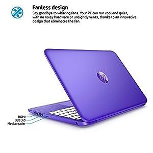 "2017 HP Stream 14"" Flagship Laptop Computer, Intel Celeron N3060 up to 2.48GHz, 4GB RAM, 32GB SSD, Wifi, Bluetooth, Webcam, USB 3.0, Windows 10 Home, Purple (Certified Refurbished)"