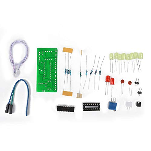 Nikou LM3915 Kit de Entrenamiento de Soldadura 2PCS 10 Indicador de Nivel de Audio Piezas de Soldadura de Circuito electrónico DIY