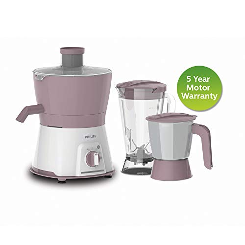 Philips HL7578/00 600W Turbo Juicer Mixer Grinder with 3 Jars - Nuti Juicer Jar, Blender and Multi Purpose jar