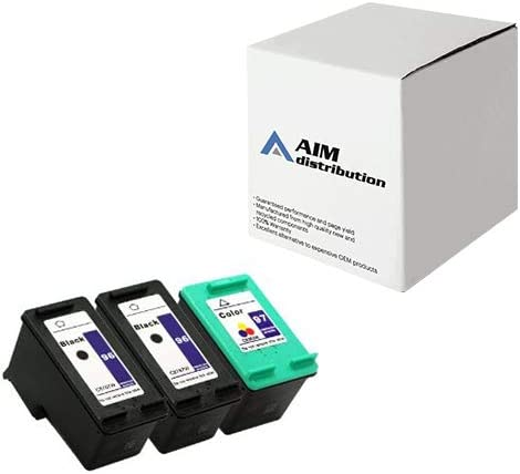 AIM Compatible Replacement for HP NO. 96/97 Inkjet Combo Pack (2-BLK/1-CLR) (CC633FN) - Generic