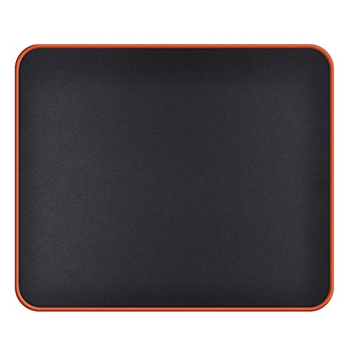 Mouse Pad with Durable Stitched Edge(12.6x10.6x0.12in), Gaming Mouse Pads Mat with Smooth Surface, Colorful Non Slip Rubber Base & Washable Black Mouse pad for Laptop, Computer, Mouse(Orange Base)