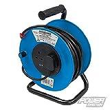 Silverline 200084 - Alargador eléctrico 240 V (50 m, 2 tomas 13 A)