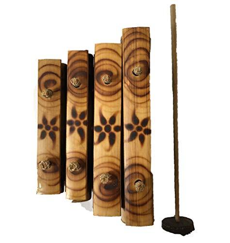 Handgemachtes Bambus-Xylophon aus Holz (klein (4 Noten))