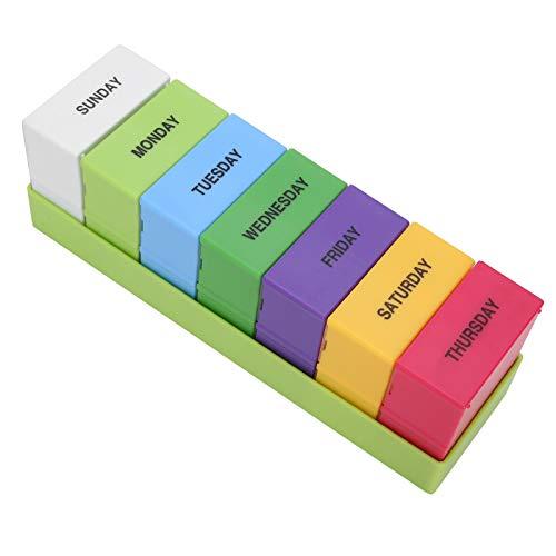 Scatola di medicinali portatile, portagioie, 28 griglie portatili per bambini gli anziani che ricordano ai pazienti di prendere i medicinali del negozio di medicinali