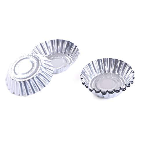 Chunyang 50pcs Disposable Egg Tart Moulds Aluminium Foil Cups Tart Moulds Non Pan Non Stick Cake Cookie Liner Heat Resistant Home Baking Mould