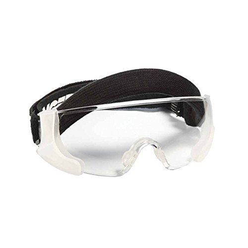 Bangerz HS-3000 - Curved Shatter-Proof Shock Absorbent Eye Goggles - Lacrosse Field Hockey Racquet Sports Eyeguard - Anti-fog Clear Lens