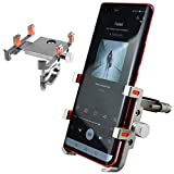 FQGGJ Bike Cell Phone Mount Holder - Universal iPhone X Holder 360° Spin for Mountain Bicycle Dirt Bike Motorcycle Handlebar, Tough Aluminum, Anti-Shake, Great for iPhone 6/7/8 Plus