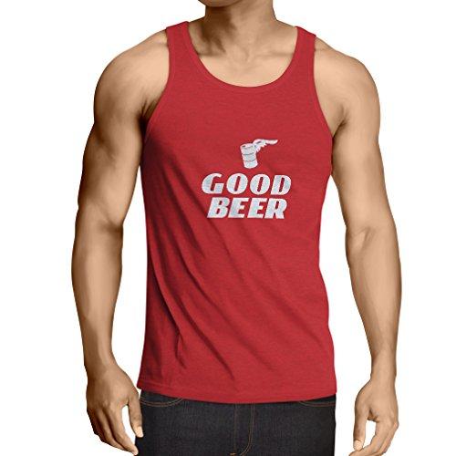 lepni.me Weste Ich Brauche EIN gutes Bier, Geschenk für Bierliebhaber Partykleidung (X-Large Rot Weiß)