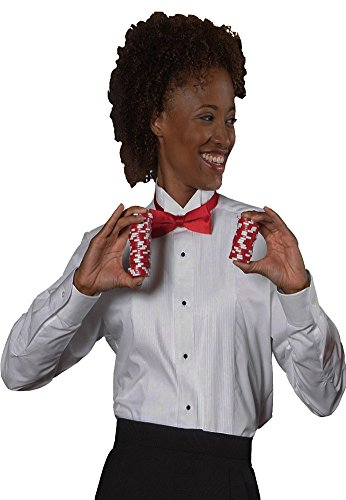 Edwards Women's Tuxedo Shirt, White, XLarge