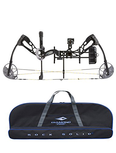 Diamond Edge SB-1 Compound Bow, Black, RAK Package, Right Hand, 7-70lbs, with Diamond Soft Bow Case