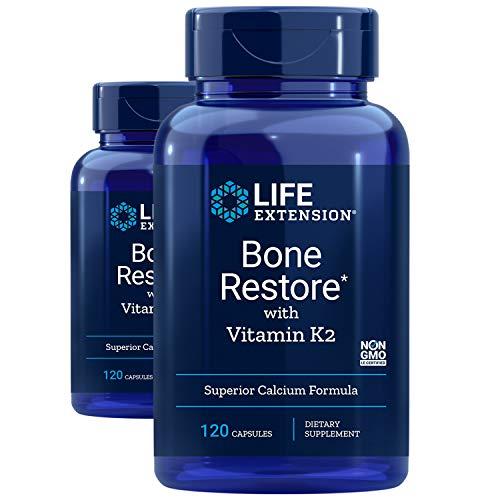 Life Extension Bone Restore with Vitamin K2, 120 Capsules