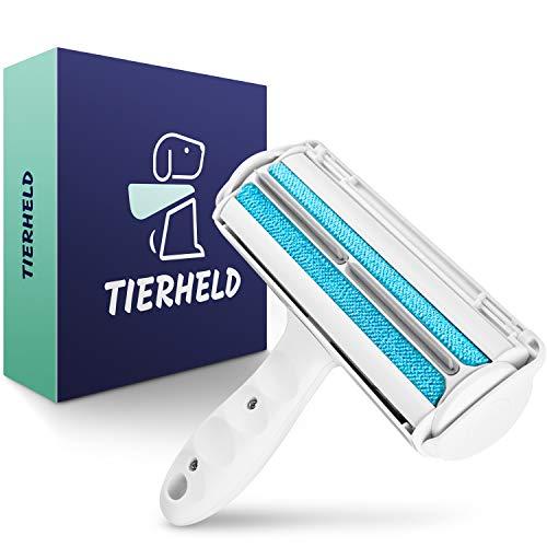 TIERHELD® - Tierhaarentferner Fusselrolle für Möbel & Autos - Katzenhaarentferner - Fusselbürste Tierhaare - Hundehaarentferner - Fusselrolle Tierhaare - Tierhaarroller - Katzenhaare Entferner