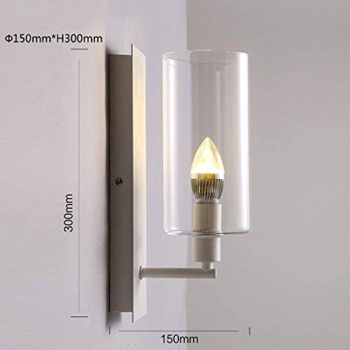 DSJ creatieve wandlamp hal gang trap woonkamer wandlamp glazen lampenkap kaars wandlamp