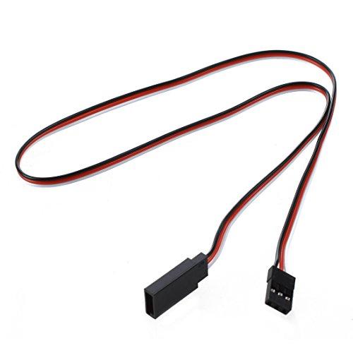 SODIAL(R) 10pcs 500mm cable rallonge extension pour servo recepteur heli RC